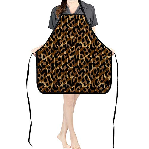 Jiahong Pan BBQ Apron Leopard Print Wallpaper backgroun Texture for Delicious Barbecue Grill KitchenK26.6xG27.6xB10.2