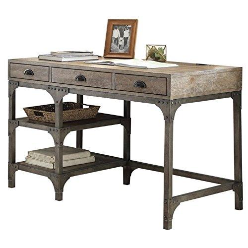 (Acme Furniture Acme 92325 Gorden Desk, Weathered Oak & Antique Silver)