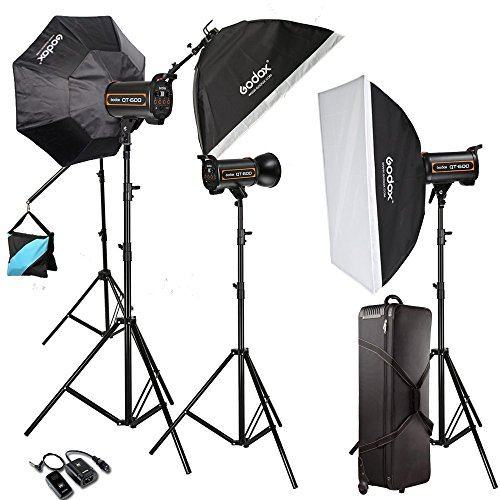 Godox 1800W 3X QT 600W High Speed Studio Strobe Flash Light