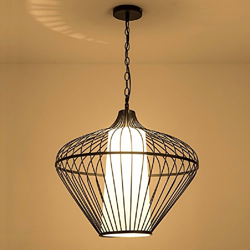 HQLCX Chandelier Simple Birdcage Chandelier Living Room Restaurant Study Iron Cage Chandelier 55Cm by HQLCX-Chandeliers