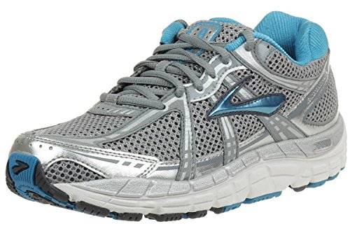 Brooks Womens Addiction 11 Motion Control Running Shoes, Color: Slv/PrmGry/Shdw/Wht/Crrbn/Sea, Size: 7.0