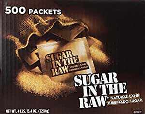 Sugar in the Raw / Raw Sugar Natural Cane Turbinado,500 Count,Pack of 1