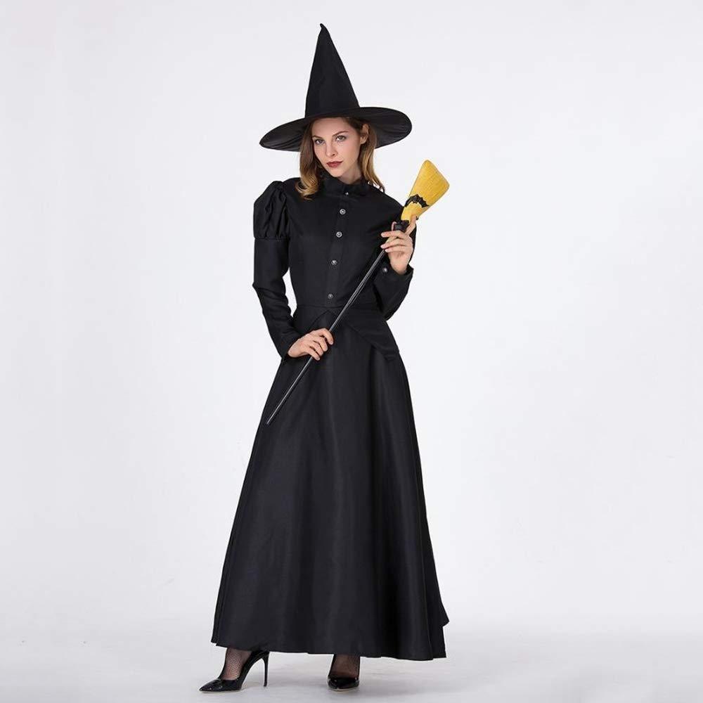 Yunfeng Hexenkostüm Damen Halloween Kostüm Masquerade Erwachsene Hexe Kostüm Zauberin Kostüm