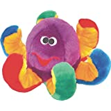 Patchwork Pet Octopus 15-Inch Multicolor Squeak Toy for Dogs