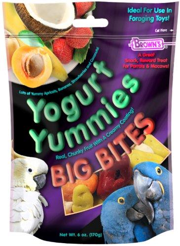 F.M. Brown 51271 Yogurt Yummies Big Bites Parrot and Macaw Treats, 6-Ounce