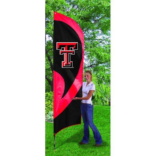 (Party Animal Texas TECH RED Raiders Tall Team Flag KIT)