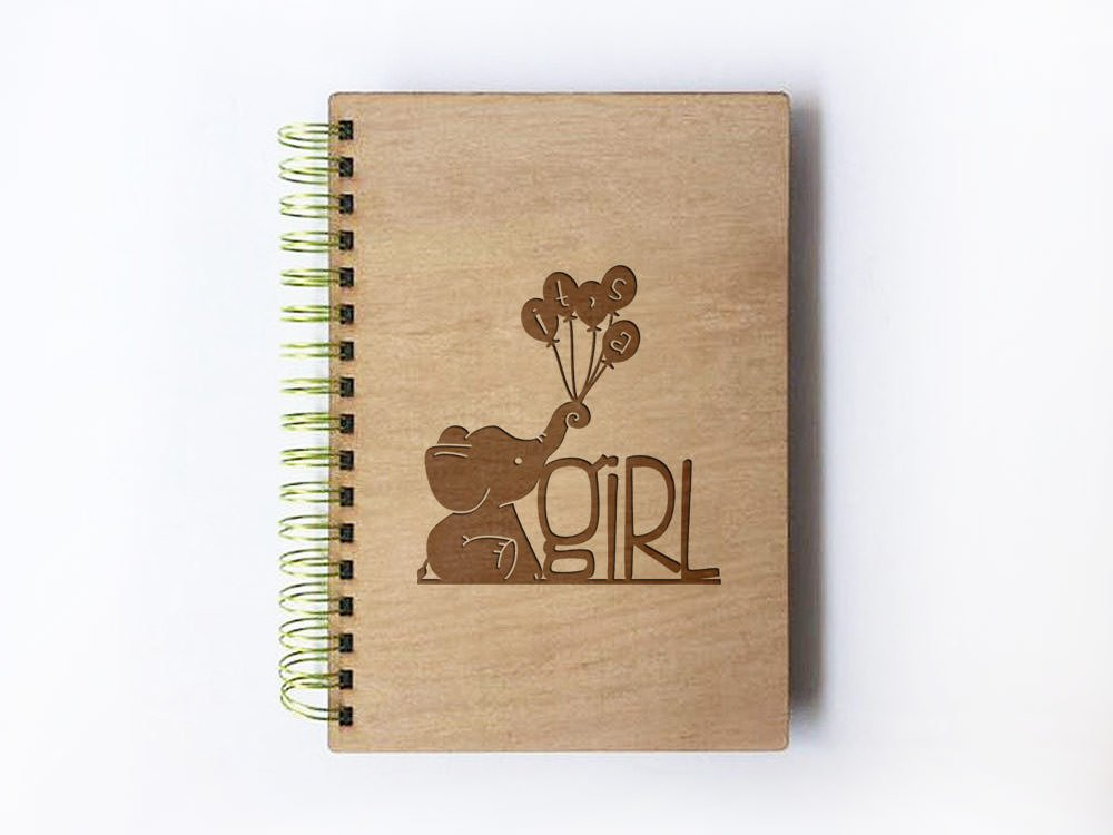 Cute Its A Girl Wedding Guest Book, Elephant Baby Shower
