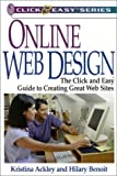 img - for Online Web Design: The Click and Easy Guide to Creating Great Web Sites (Click & Easy Series) book / textbook / text book