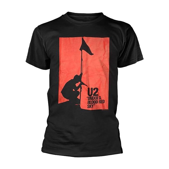 U2 Under A Blood Red Sky Bono The Edge Live Oficial Camiseta para Hombre (XX
