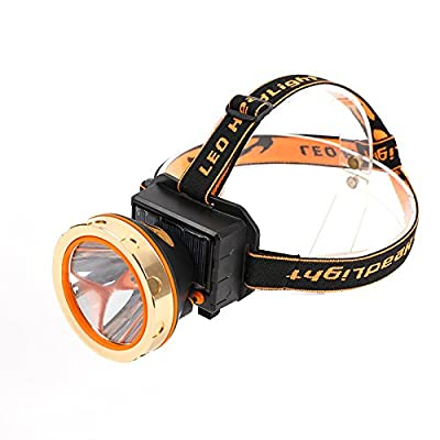 Lanlan LED Head-Mounted Outdoor Floodlight lamp Solar Powered USB Charging 3 Model Lighting for Outdoor Activities