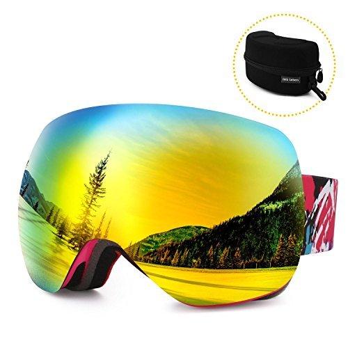 DAS Leben Ski Goggles Professional Anti-fog 103% UV Protection Snowboard Goggles With Sports Goggle Box for Skiing Snow Snowmobile Skiing Skate Winter(Men/Women/Girls/Boys/Kids)