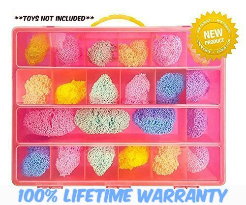 Foam Case Storage Organizer - This PlayFoam TM Case Is The Perfect Storage Box- Stores Up to 20 pack of Foam - Large Sturdy Case And Carrying Handle (Rug Stores In Las Vegas)