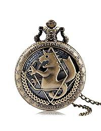 Pocket Watch for Kids, Fullmetal Alchemist Retro Pocket Watch, Fullmetal Alchemist Pocket Watches for Men, Edward Elric Anime Cosplay Gifts