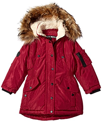 Little Girls Jacket - Steve Madden Little Girls' Fashion Outerwear Jacket (More Styles Available), Beet Red, 5/6