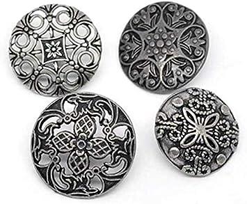 redondos en mezcla 28 mm 2,8 mm CansyY 12 botones de metal mezclados al azar 23 botones para coser botones para abrigos ojal 2,3