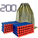 100 bullets 10 - Coodoo Nerf Compatible Darts 200 PCS Refill Pack Bullets for Nerf N-Strike Elite Series Blasters Toy Gun - Blue with Storage Bag