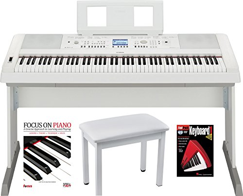 Yamaha DGX660W 88 Key Digital Piano  with Knox Piano Bench D