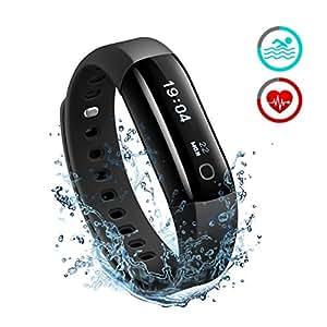Pulsera Actividad Inteligente Mpow, Impermeable IP68 para Natación, Monitor de Actividad Rastreador del Sueño Ritmo Cardiaco Pasos Calorías Notificación de Llamadas y Mensajes, Pulsómetro Reloj, Fitness Tracker.