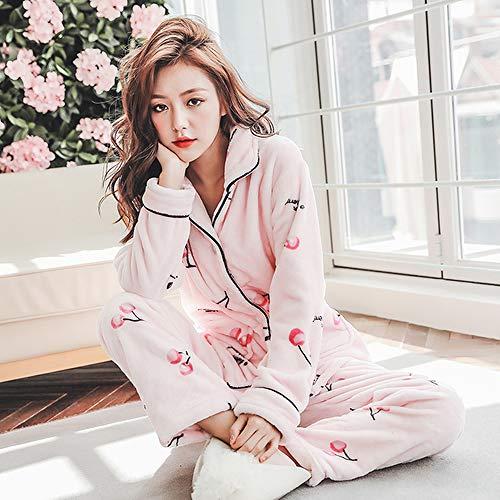 37 Pijama Ropa Terciopelo Mujer Yex Pijamas Completa El Calientes Tamaño Jylw Conjunto De Longitud Invierno Para Más Usar Dormir Puede xHawgP