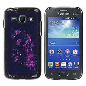 YiPhone /// Prima de resorte delgada de la cubierta del caso de Shell Armor - Neon Rose Pink Skull - Samsung Galaxy Ace 3 GT-S7270 GT-S7275 GT-S7272