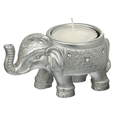 Amazon.com: 20 Buena Suerte Plata Elefante Indio Vela ...