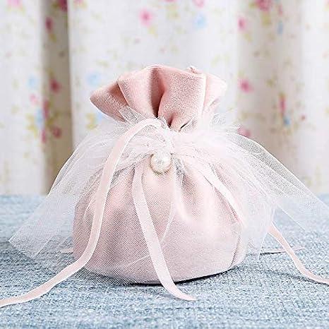 10 bolsas de regalo de terciopelo con cordón de ajuste ...