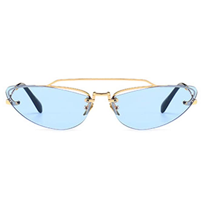 MUCHAO Retro Cateye gafas de sol pequeñas Unisex Colores de ...