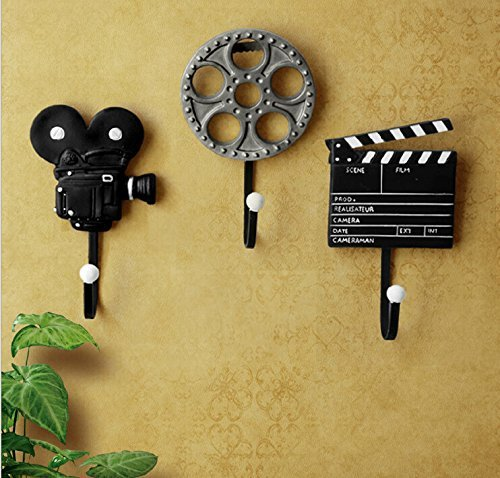 Film Equipment Wall Hooks, House Decoration, Wall Decoration, Birthday Child's Lovers Wedding Party Christmas Bar New Year Gift 3 Pack]()