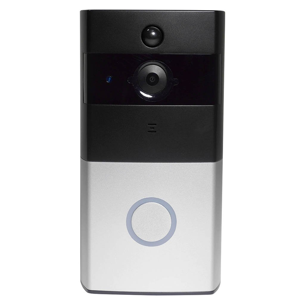 1MP 720p HD Wireless Wi-Fi Video Doorbell IP Home Security Camera w/ Built in 8G Memory, Motion Detection PIR, Tamper Alarm Infrared Night Vision, Two Way Audio & Free IOS + Android Apps