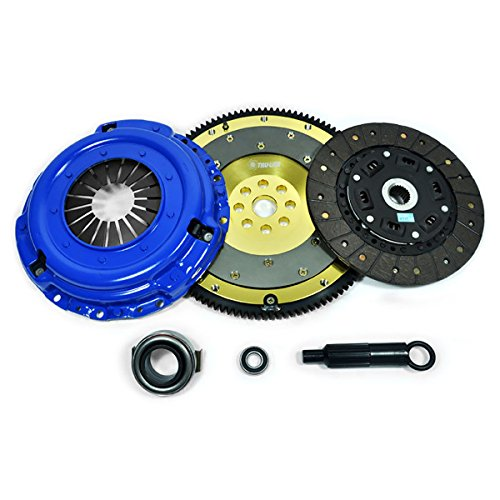 PPC RACING STAGE 2 CLUTCH KIT+ALUMINUM FLYWHEEL FOR 1986-95 FORD MUSTANG 5.0 GT 5.0L ()