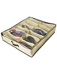 ZizHome Under Bed Shoe Organizer for Kids and Adults (12 Pairs ) – Underbed Shoes Closet Storage Solution - Made of Breathable Materials with Front Zippered Closure – Easy to Assemble BOBEBE Online Baby Store From New York to Miami and Los Angeles
