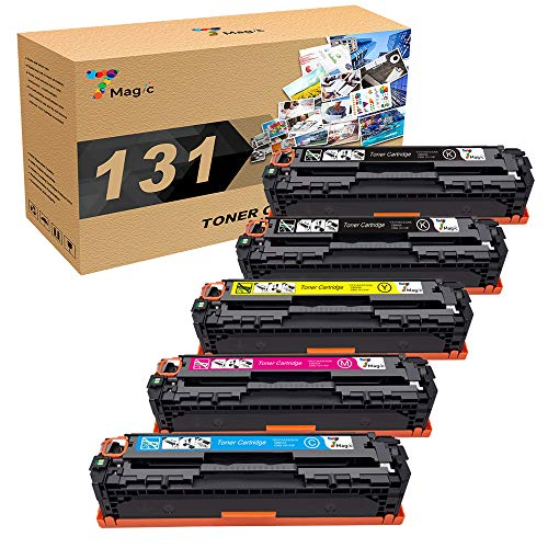 7Magic Compatible Toner Cartridge Replacement for HP 131A 131X CF210A CF210X CF211A CF212A CF213 Laserjet Pro 200 Color M251n M251nw MFP M276n M276nw Canon MF8280Cw (5-PK)