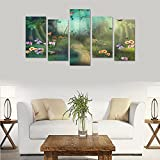 Custom Custom Oil Painting Print Dream Forest Path Canvas Print Bedroom Wall Canvas Decoration Hotel Fashion Design Wall Art 5 Piece Oil Paintings Canvas (No Frame)