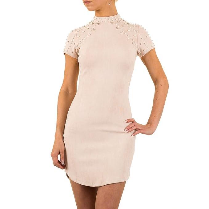 Imitat Sommerkleid Kleid Damen Velour Schuhcity24 Lederkleid fY6g7by