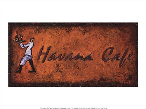 Havana Cafe by Will Rafuse Laminated Art Print, 16 x 12 inches