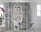 Owl Shower Curtain Somersetoo Custom White Owl Art Print Pattern Shower Curtain Bathroom Decorated Curtain 66