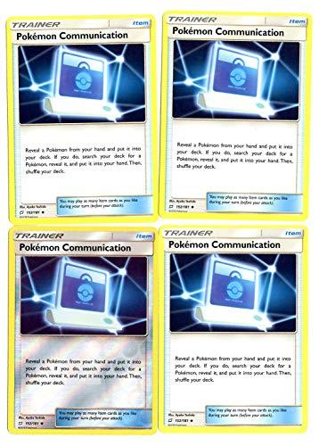 Sun Moon Team Up - Trainer Set - Pokemn Communication 152/181 - x4 Item Card Lot