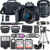 Canon EOS T7i DSLR Camera with 18-55mm IS STM Lens + 2 x 32GB...