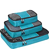 eBags Classic Packing Cubes for Travel - 3pc Set - (Aquamarine)