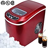 DELLA FBA_048-GM-48184 048-GM-48184 Portable Electric Ice Maker Machine, Red, Small
