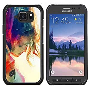 Eason Shop / Premium SLIM PC / Aliminium Casa Carcasa Funda Case Bandera Cover - Sun Summer Girl Rainbow - For Samsung Galaxy S6 Active G890A