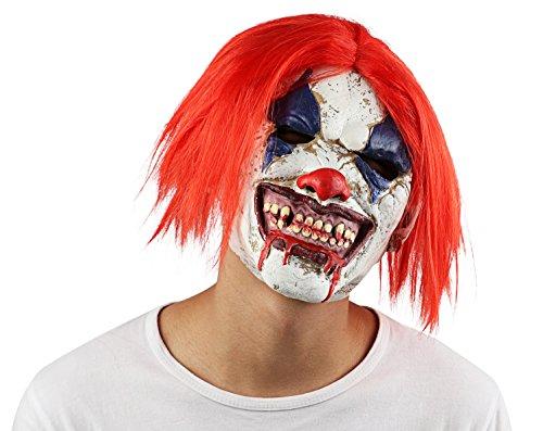 Supmaker Latex Scary Clown Mask Creepy Evil Halloween Killer Clown Mask