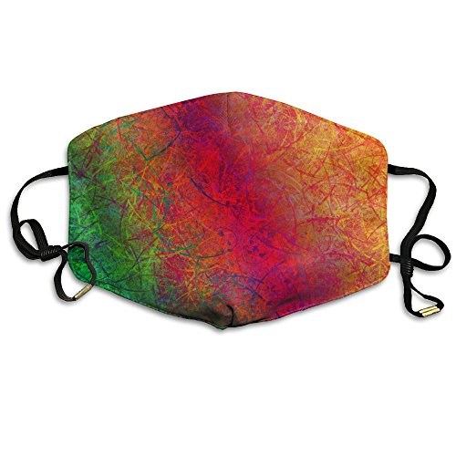 Abstract Colorful Texture Printed Mouth Masks Unisex Face Mask Polyester Anti-dust Masks For Men And Women ()