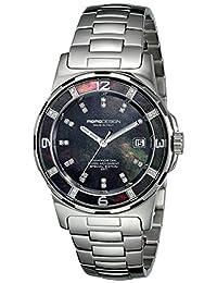 Momo Design Women's MD093-E01BK-MB Pilot Lady Analog Display Swiss Quartz Silver Watch