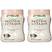 Nature's Bounty Protein Shake Mix, Decadent Chocolate, 16 Ounce (Pack of 2)