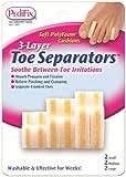 Pedifix 3-layer Toe Separators, 6-Count (Pack of 2)