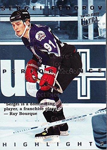 (CI) Sergei Fedorov Hockey Card 1994-95 Ultra Sergei Fedorov 1 Sergei Fedorov