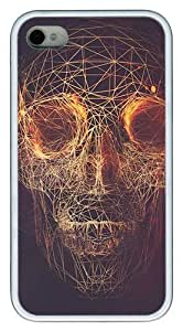 Abstract Skulls Artwork Lines Roses Beautiful Dark Twisted Fantasy PC hard Case Cover for iphone 5 5s
