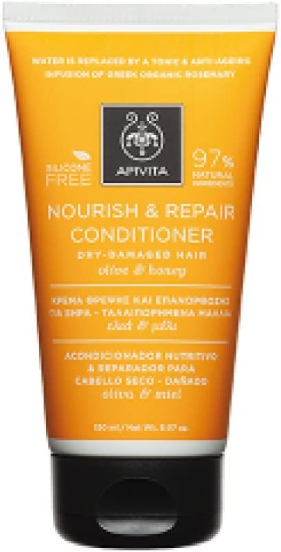 Apivita - Acondicionador nutritivo y reparador cabello seco oliva & miel