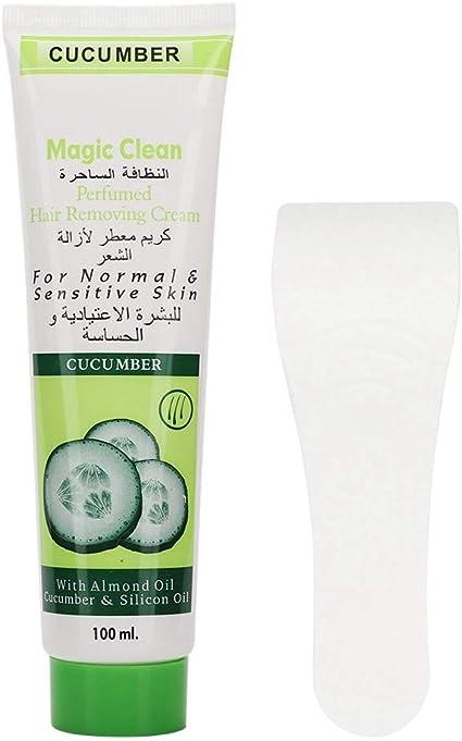 Crema para eliminar el vello, 100 g de crema hidratante para el cuerpo del pepino, crema depilatoria unisex para piernas, brazos y espalda: Amazon.es: Belleza
